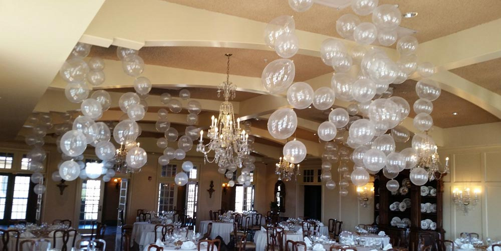 Balloon ceiling bubbles